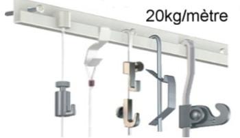 cimaise classic+ rail 100 kg/mètre Artiteq