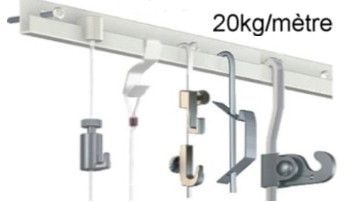 kit classic rail j 2 tiges 4x4 mm 150 cm 2 crochets 8 vis. Black Bedroom Furniture Sets. Home Design Ideas